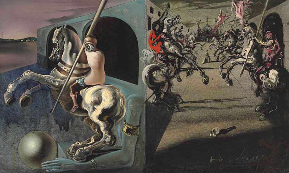 Chevaliers-on-Parade-by-Salvador-Dali