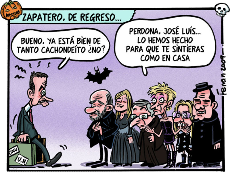 Zapatero en familia (El Jueves)