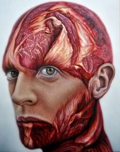 'Flesh Selfportrait'. Óleo sobre madera