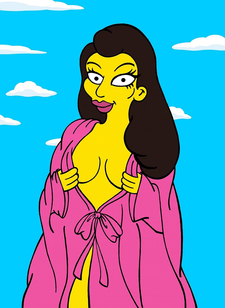 Kim Kardashian and Kanye West Icon Fun The Simpsons Simpsonized Sexy Pics Erotic Nude Selfie Booty Wedding Cover Art Photo Painting Cartoon Satire Illustration Cover Iconic Family Humor Chic by aleXsandro Palombo 1