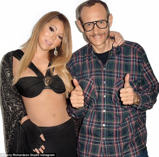 Terry Richardson junto a Mariah Carey