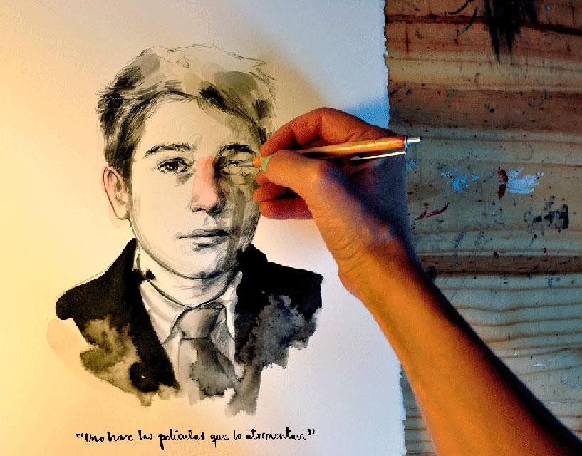 """Antoine Doinel"""", una de las ilustraciones de """"813"""" - ©Paula Bonet"""