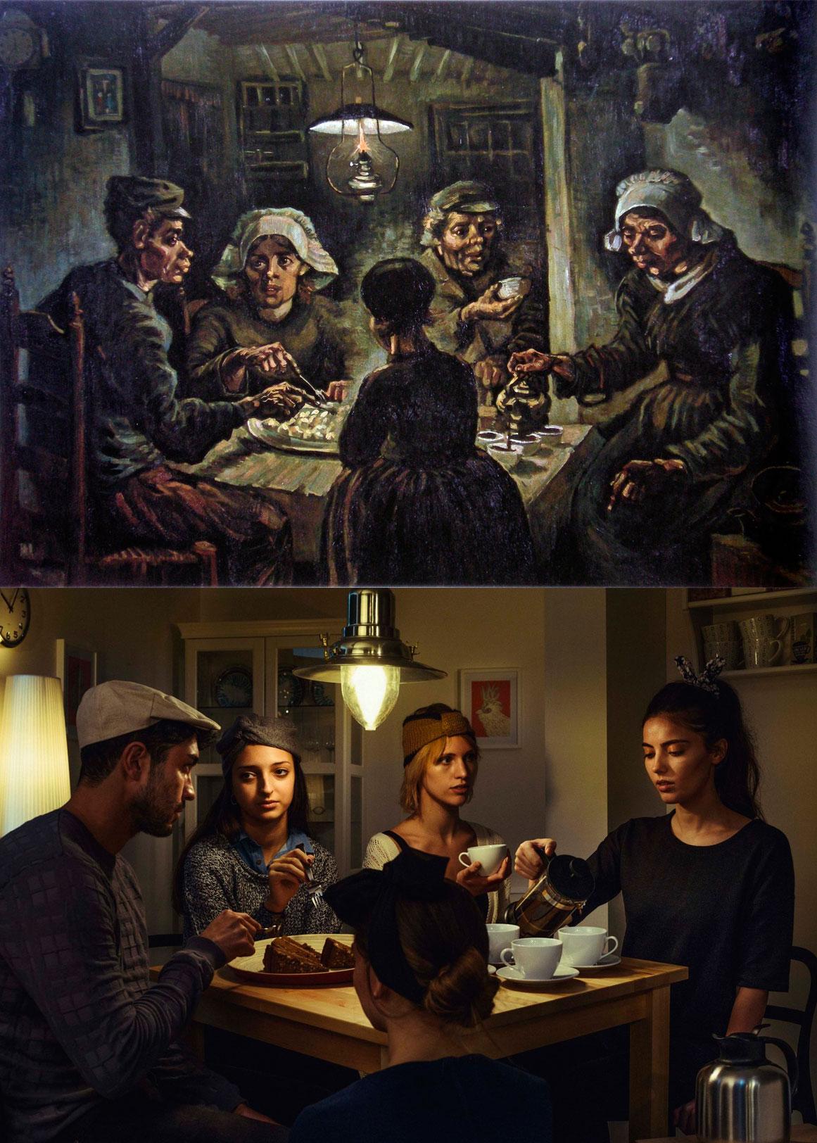 Hopper, Van Gogh o Renoir redecorados al estilo IKEA ...