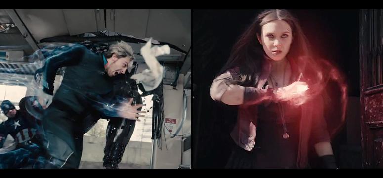 Aaron Taylor-Johnson (Quicksilver) + Elizabeth Olsen (Bruja Escarlata)