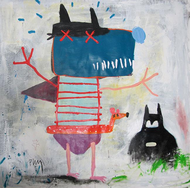 miedo-al-agua-120x120-oleo-sobre-papel-2014