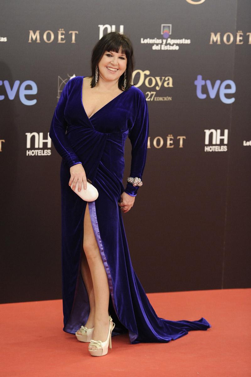 La actriz Loles León en los Premios Goya
