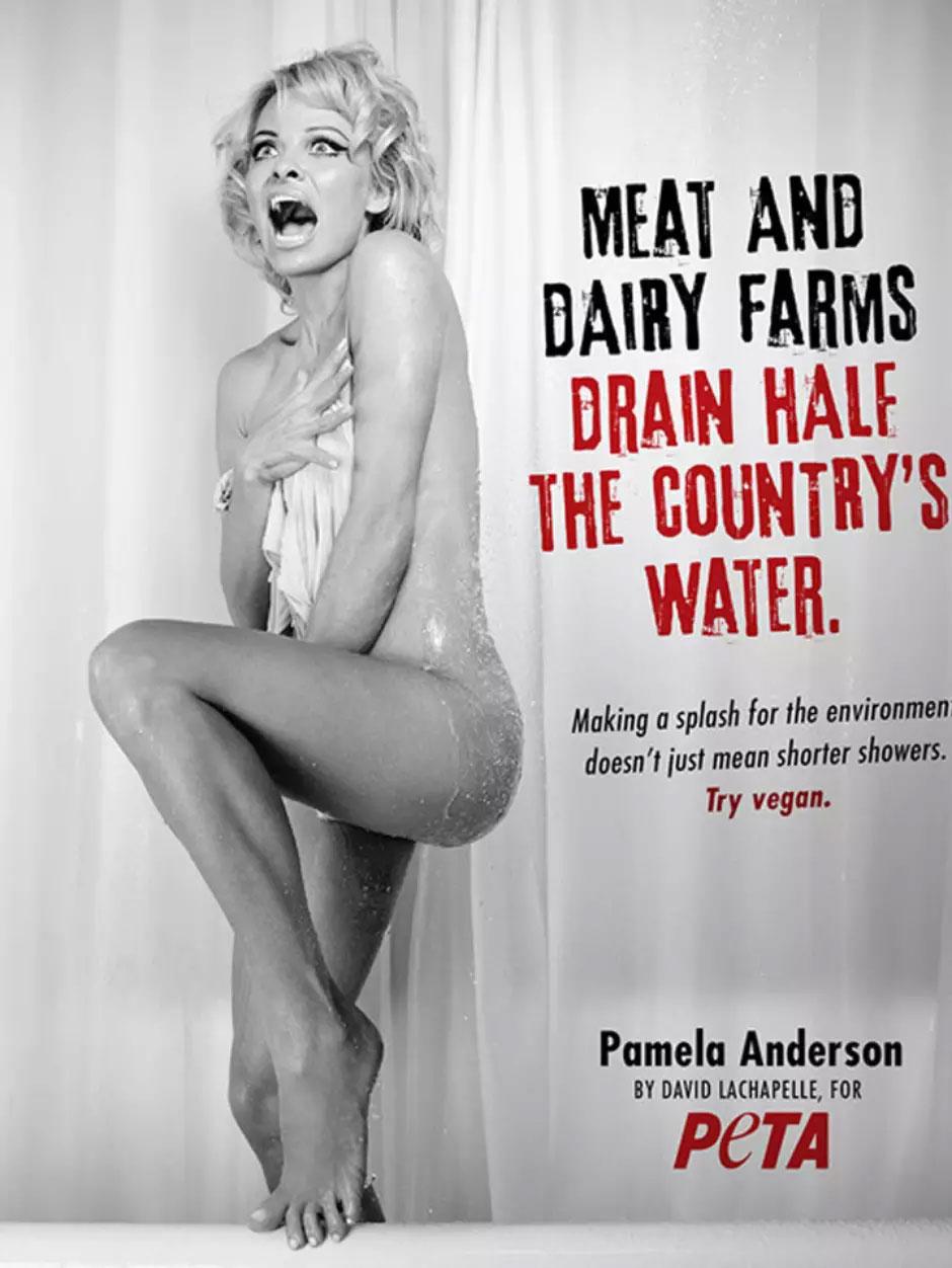 Pamela Anderson para PETA