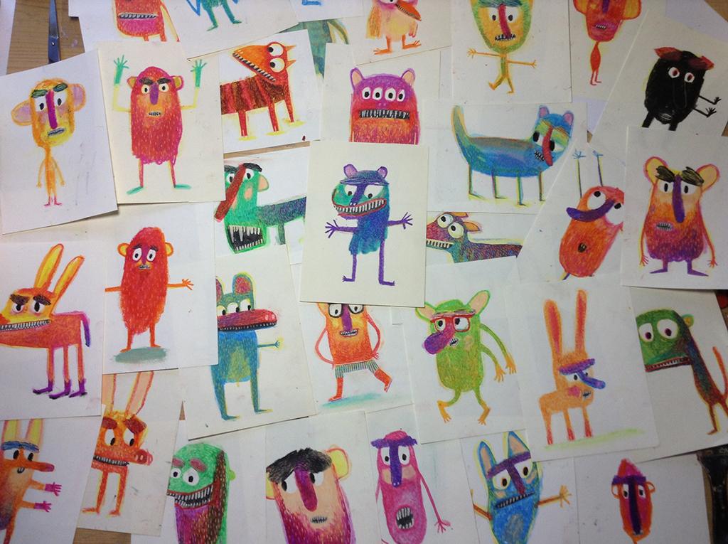 Ilustraciones pertenecientes a la serie 'Museo de CeraS' de Olga de Dios, 2014.