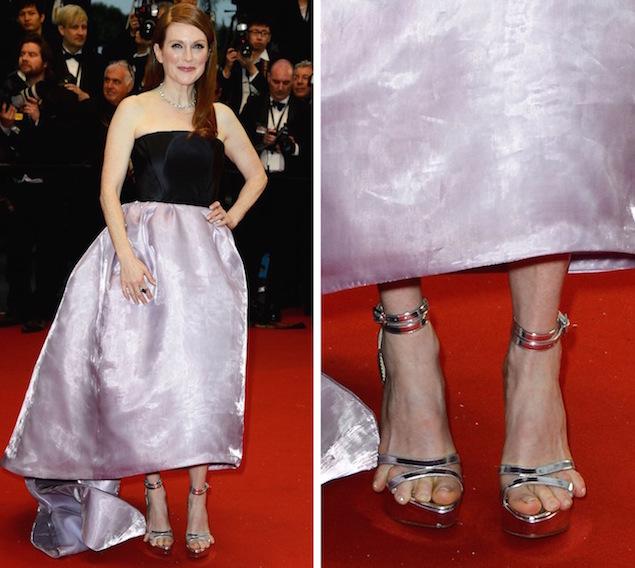 Julianne Moore en la alfombra roja de Cannes en 2013