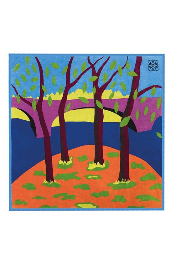 "'Chalk Giants', South Downs. De una serie de tapices edición limitada tejidos y teñidos a mano, con paisajes británicos diseñados por John Allen FRCA""."