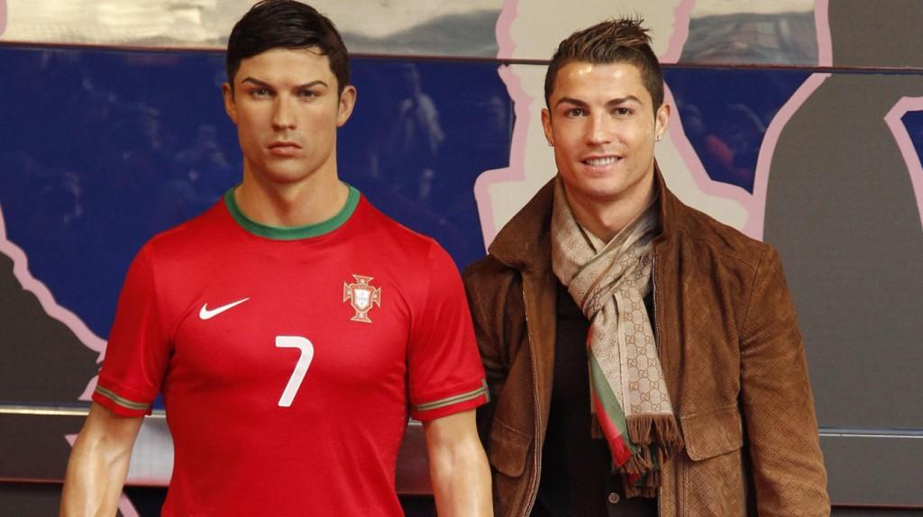 Imagen de la figura de cera de Cristiano Ronaldo