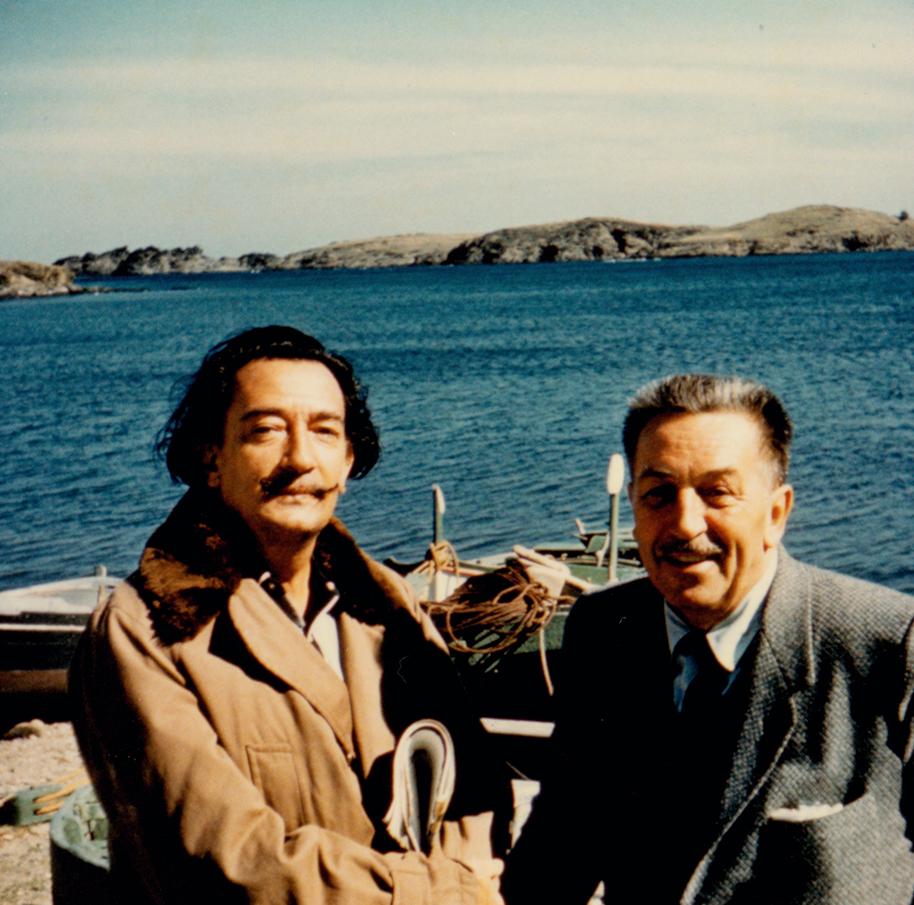 Walt Disney y Salvador Dalí (Web del museo Disney)