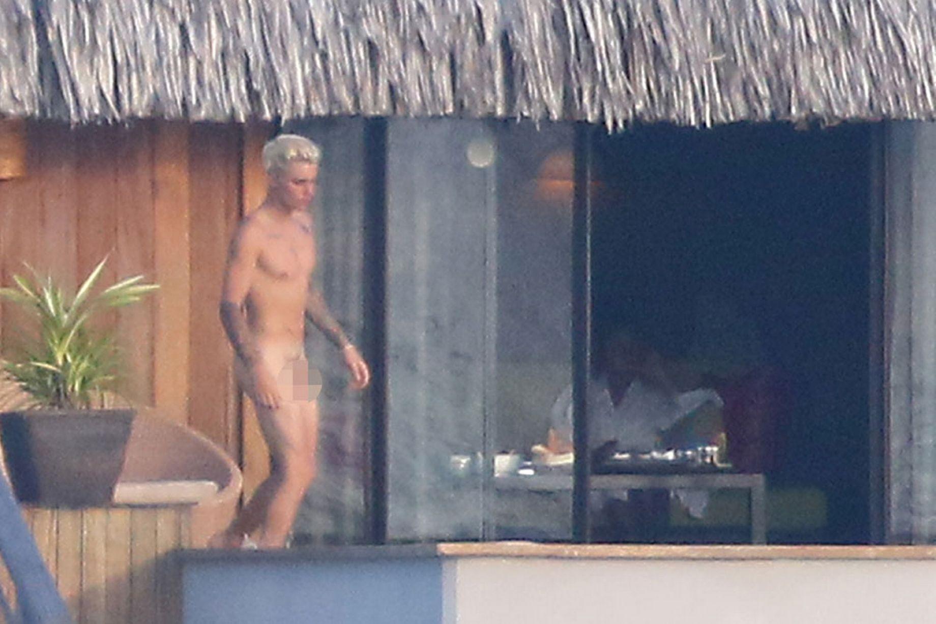 Imagen de Justin Bieber desnudo en Bora Bora de 'Daily News'