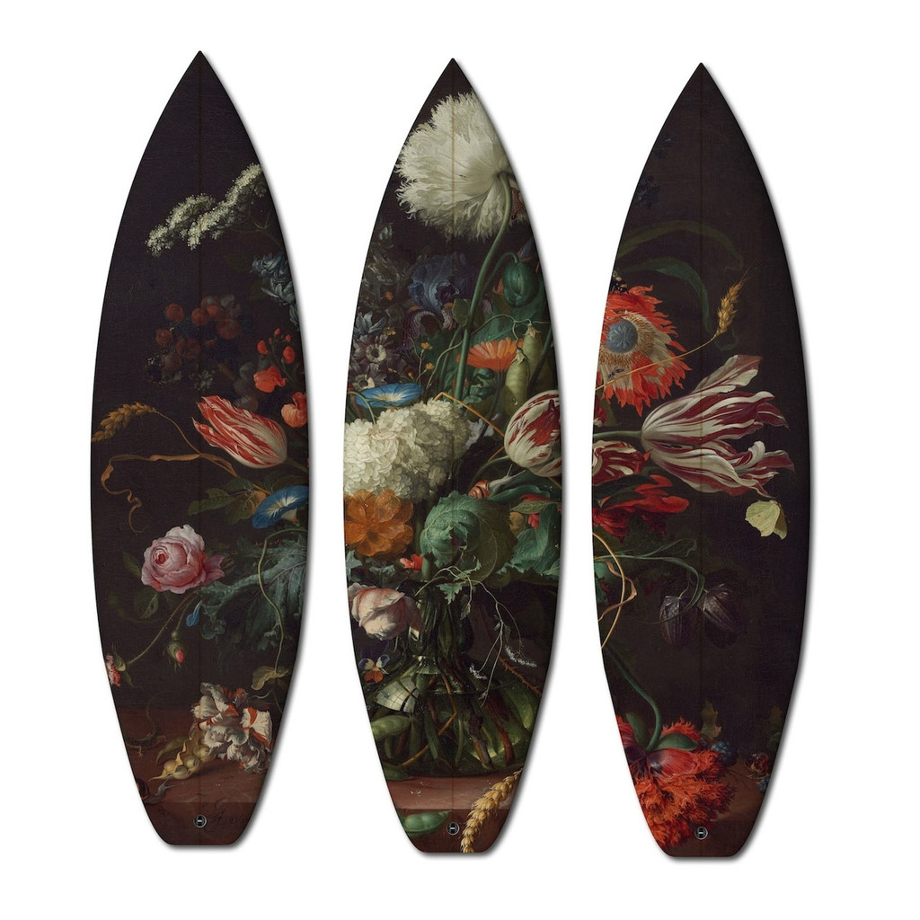 Triptych Surfboards  Limited Edition  by Jan Davidz de Heen 1606-1684