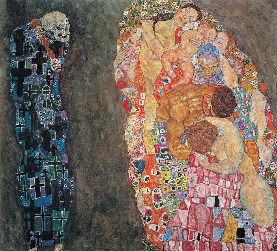 "Gustav Klimt, ""Death and Life"" (1916). Photo: via Wikimedia Commons."