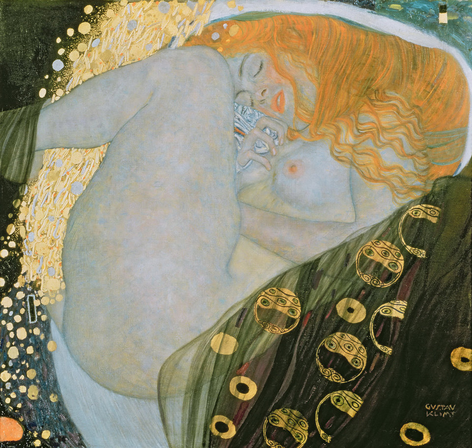 Gustav Klimt, Danae (1907). Photo: via Wikimedia Commons