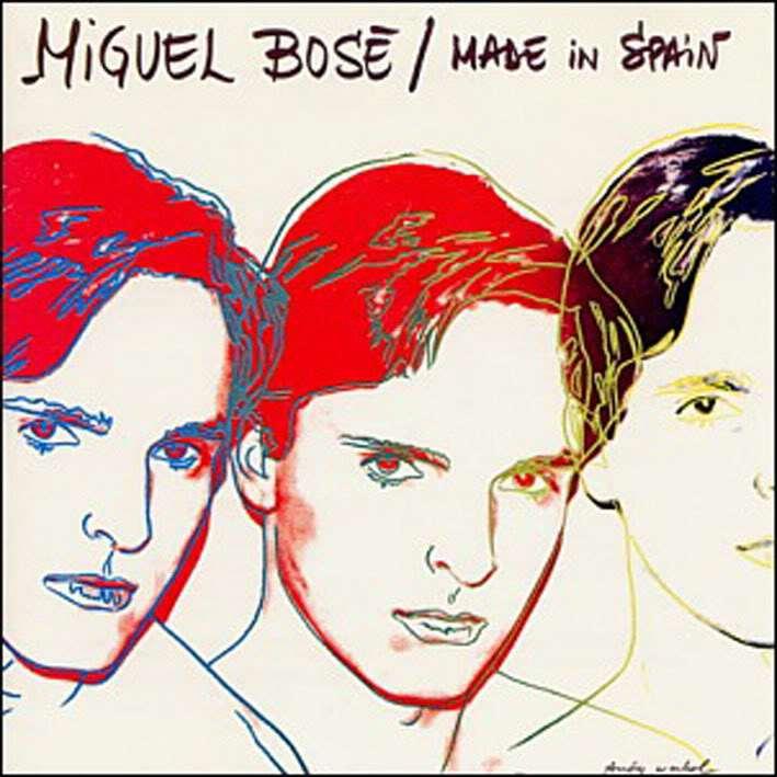 Portada de un disco de Bosé diseñada por Warhol
