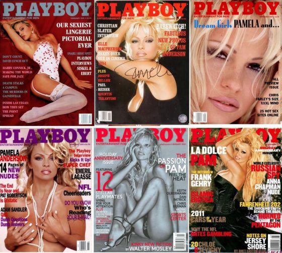 Portadas varias de Pamela Anderson en Playboy