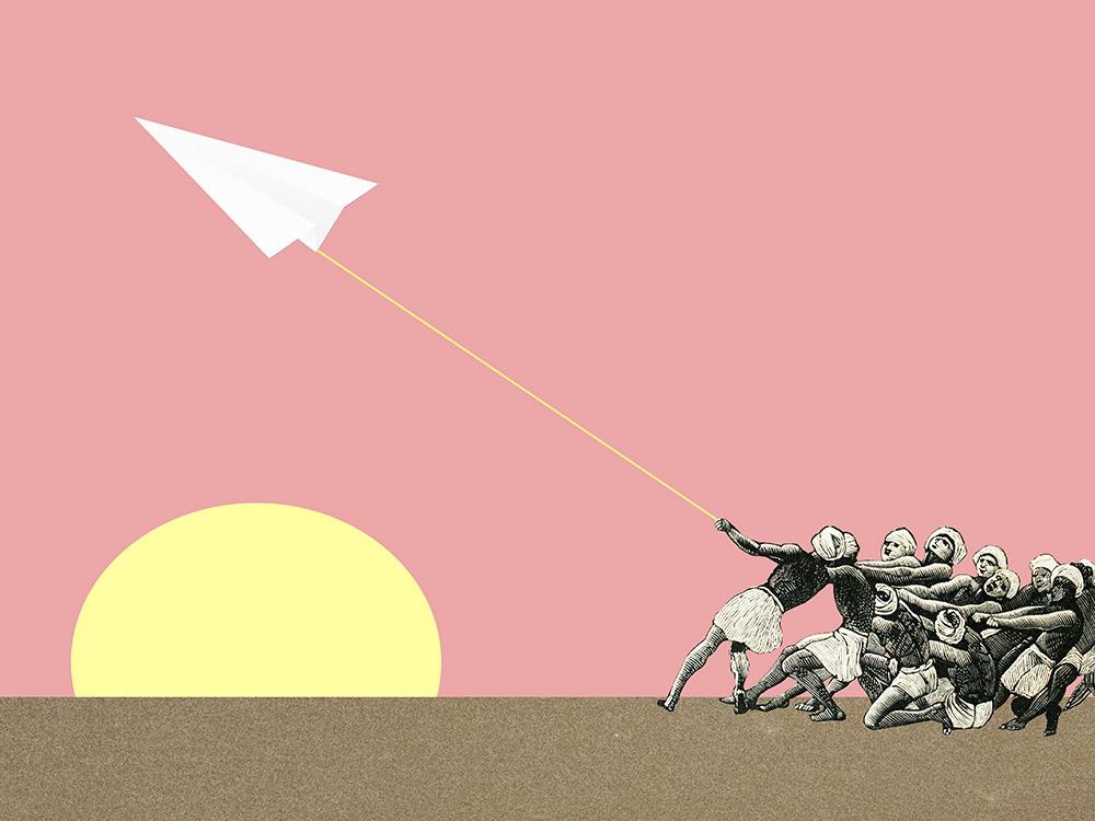 'Man Vs Paper Plane' - Jaume Serra