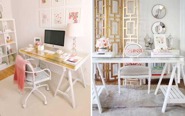 15 escritorios con caballetes para tu estudio malatinta - Caballetes para mesa ...