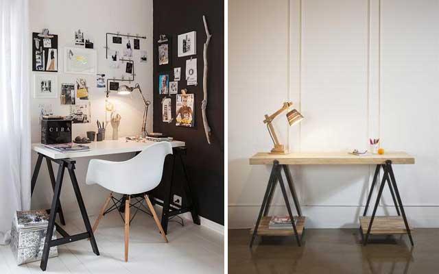 15 escritorios con caballetes para tu estudio malatinta for Patas mesa leroy merlin