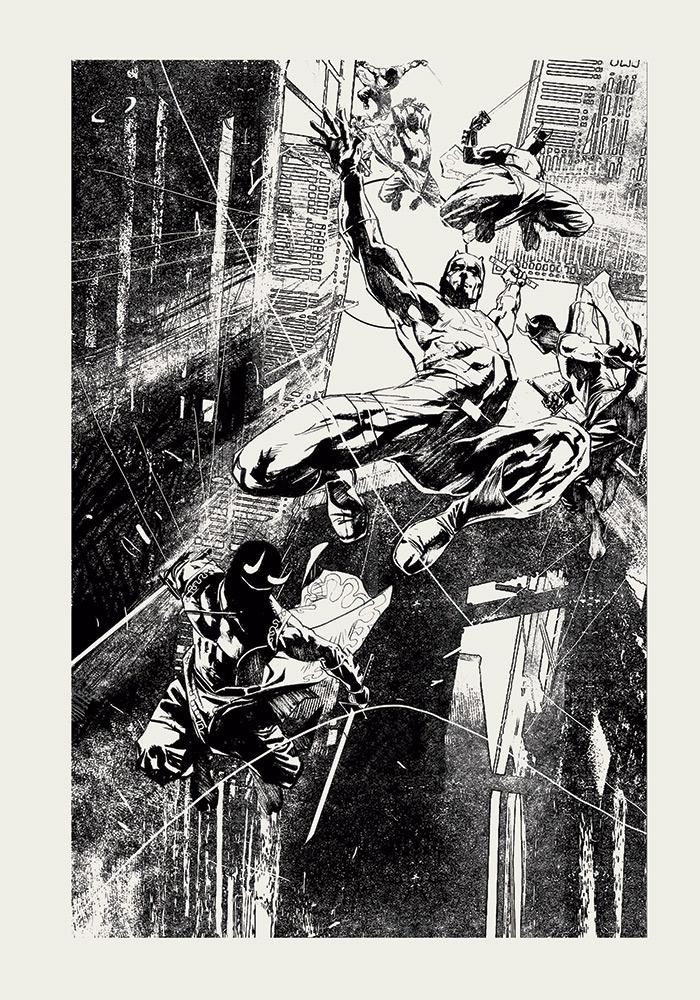 ROBERTO DE LA TORRE DAREDEVIL, NÚM. 508 Marvel Comics, EE. UU., 2010 Página interior Impresión digital Colección del artista