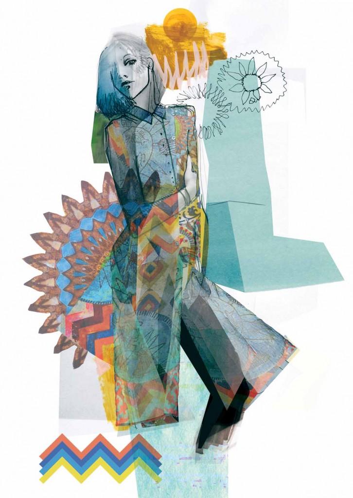 Bocetos de la colección Desigual Otoño/Invierno 2016