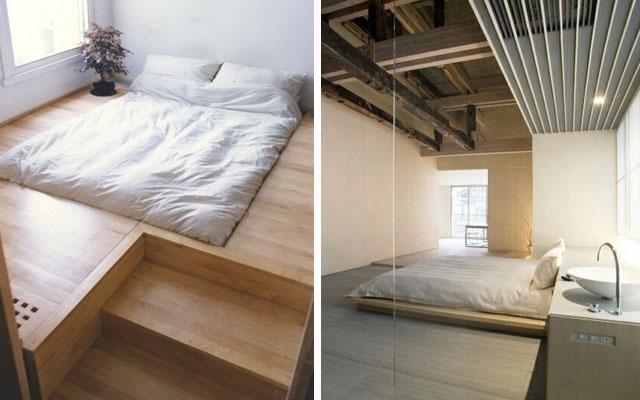 12 ideas de camas bajas a dormir al suelo malatinta magazine - Camas de obra ...