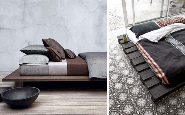 12 ideas de camas bajas a dormir al suelo malatinta - Base cama almacenaje ...