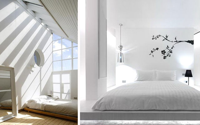 12 ideas de camas bajas a dormir al suelo malatinta for Decoracion zen dormitorio