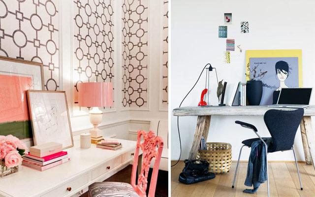 Ideas low cost para el frontal de tu escritorio for Como colgar un cuadro