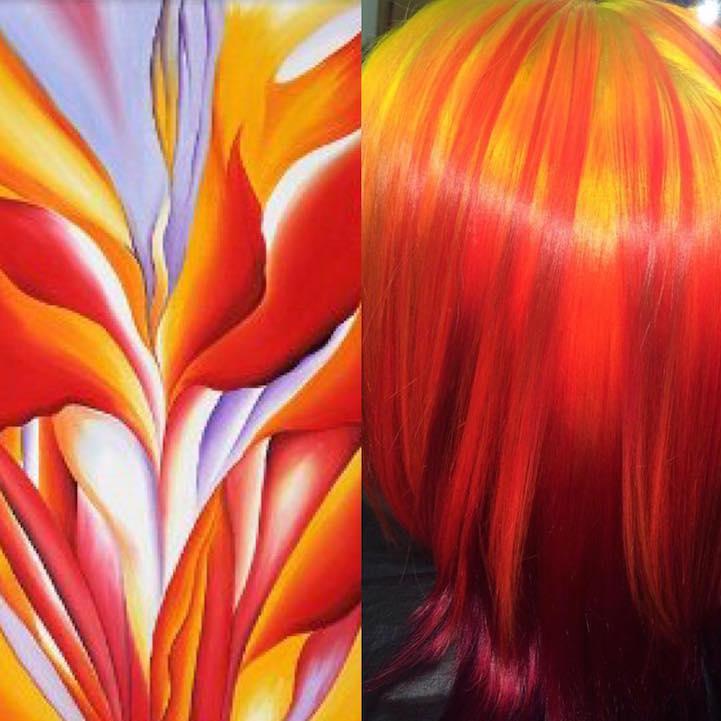 Red Canna Lily de Georgia O'Keeffe