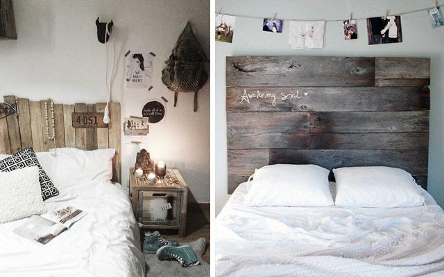 Dormitorio low cost a base de palets malatinta magazine - Habitaciones low cost ...