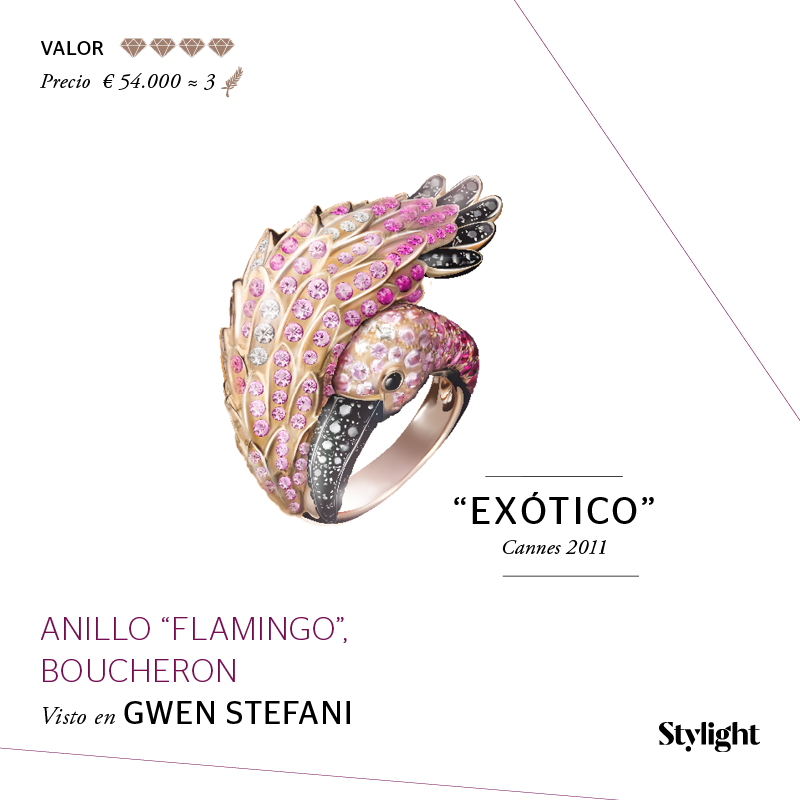 Stylight - Top 8 Joyas en Cannes - Anillo Flamingo, Boucheron