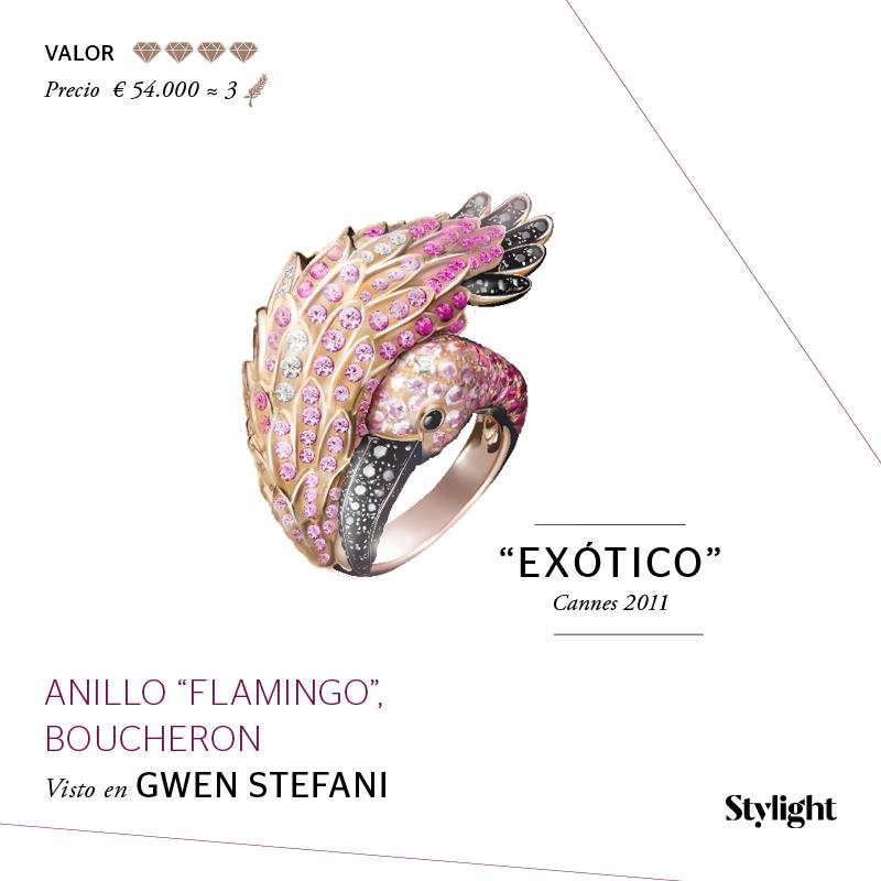 Stylight - Top 8 Joyas en Cannes - Anillo Flamingo, Boucheron