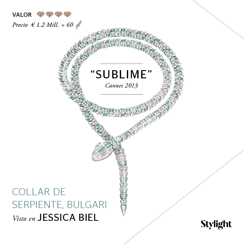 Stylight - Top 8 Joyas en Cannes - Collar de serpiente, Bulgari