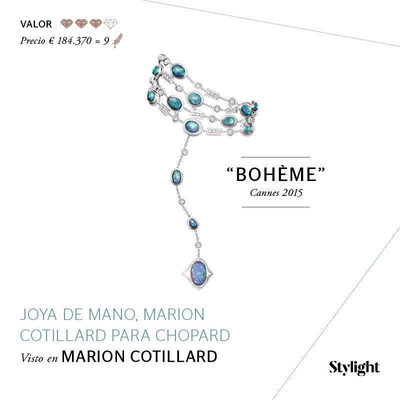 Stylight - Top 8 Joyas en Cannes - Joya de Mano, Marion Cotillard para Chopard