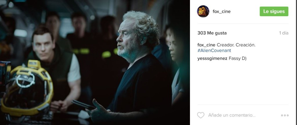 Instagram Alien Covenant