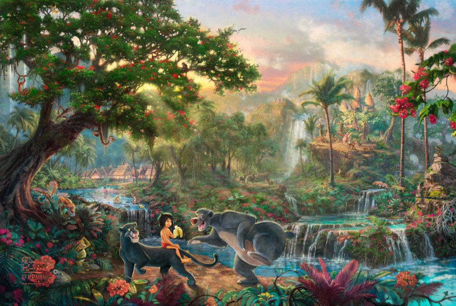 Thomas Kinkade - The Jungle Book
