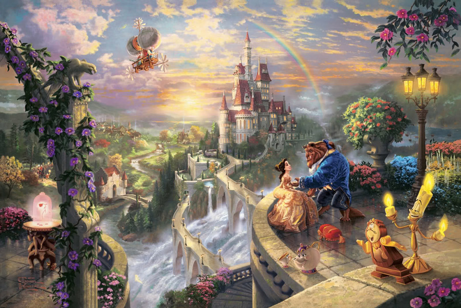 Thomas Kinkade - The Beauty and The Beast