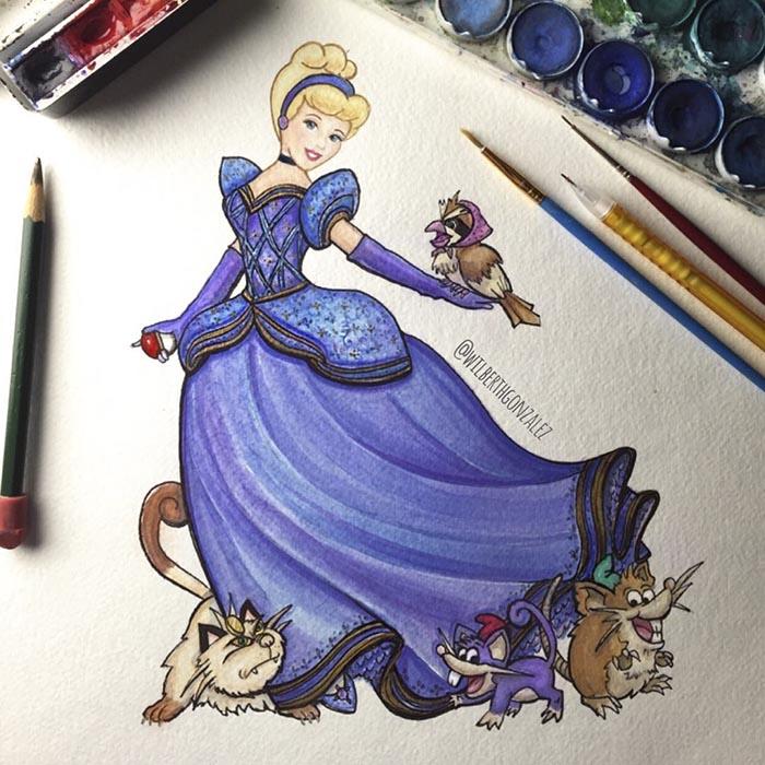 ilustraciones-disney-pokemon-wilberth-gonzalez-2