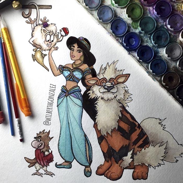 ilustraciones-disney-pokemon-wilberth-gonzalez-3