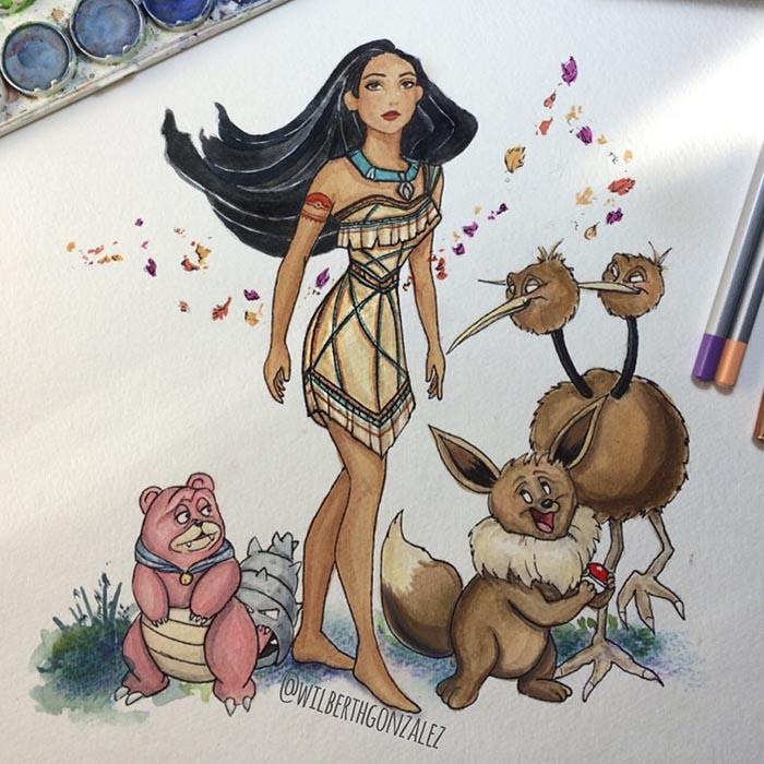 ilustraciones-disney-pokemon-wilberth-gonzalez-8