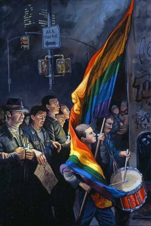 'The Candlelight Vigil for Matthew Shepard (NYC Oct. 19, 1998' - Sandow Birk