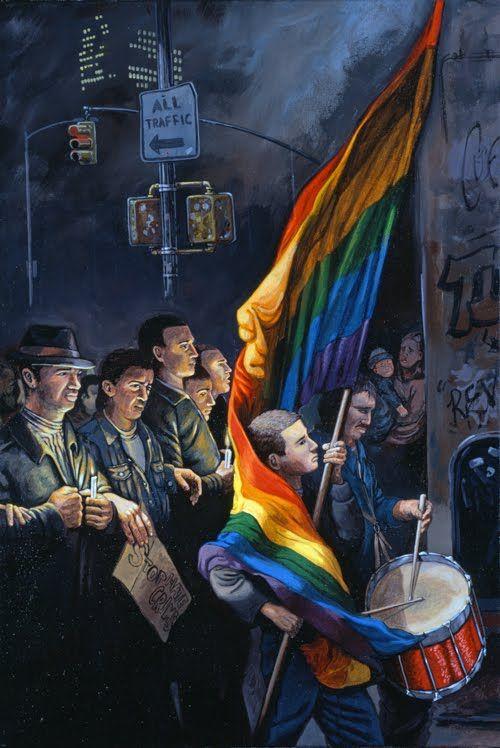 'The Candlelight Vigil for Matthew Shepard (NYC Oct. 19, 1998' - Sandow Birk