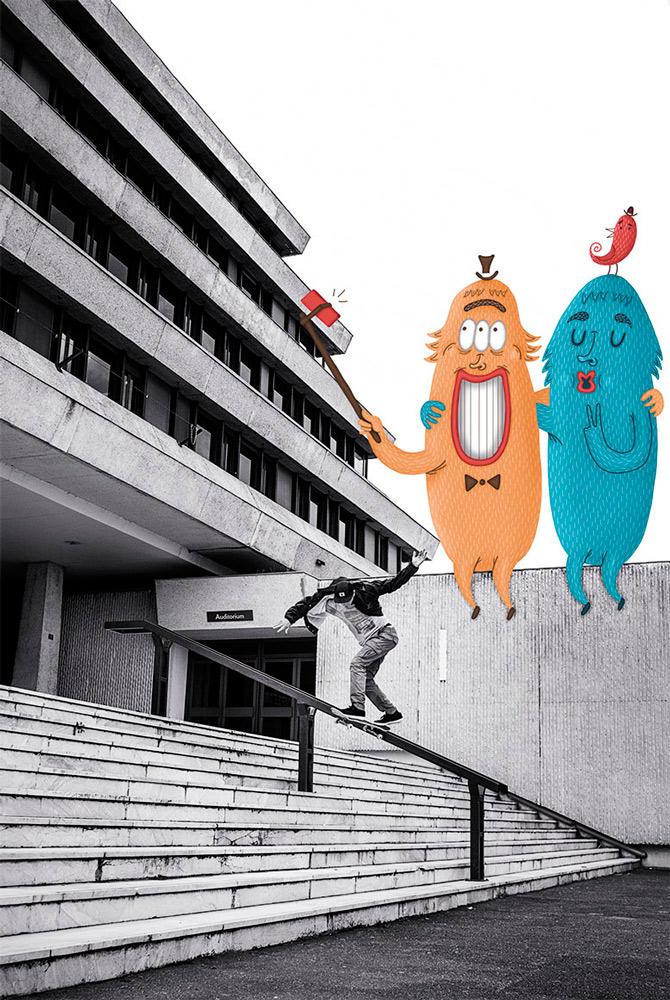 ©Mickael Brana & Clement Chouleur - Vincent Milou Bs Tailslide Bayonne 1