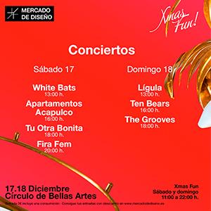 mercado de diseño conciertos