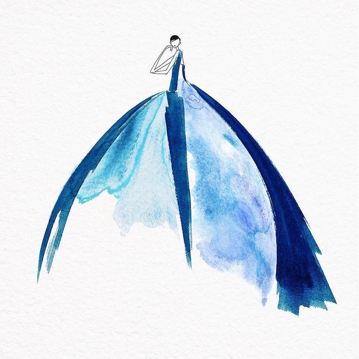 Una explosión de color en preciosos vestidos al agua ...