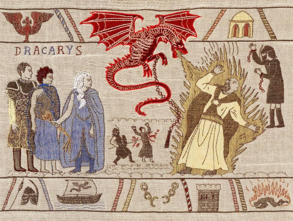 Imagen del tapiz de Juego de Tronos