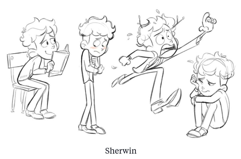 Estudio de personaje 'Sherwin' - In a Heartbeat